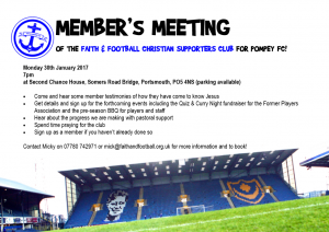 Faith & Football Christian Supporters Meeting - January 2017